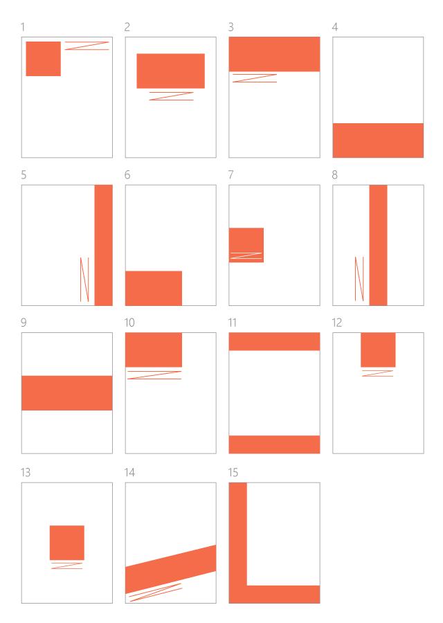 タイトル位置のレイアウトパターン15例