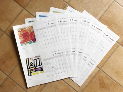 写真でおしゃれに! オリジナル卓上カレンダーを無料テンプレートで作成!!5