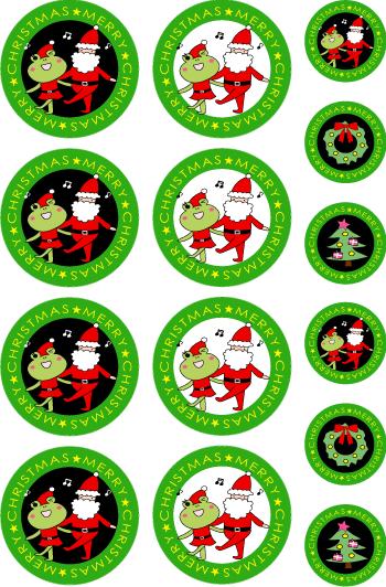 クリスマスグッズを簡単作成!!シールもカードも印刷するだけ色々使える!!1